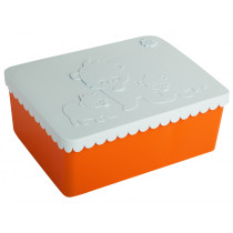 Blafre Lunchbox BÄREN orange/hellblau
