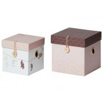 Done by Deer 2er-Set Aufbewahrungsboxen klein puderrosa