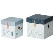 Done by Deer 2er-Set Aufbewahrungsboxen klein pastellblau