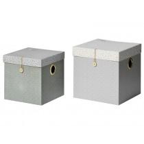 Done by Deer 2er-Set Aufbewahrungsboxen groß grau