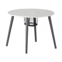 Spieltisch mit Netzkorb grau