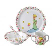 Der kleine Prinz Geschirr 4teilig rosa
