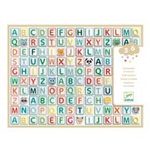 Djeco 3-6 Design Sticker ALPHABET