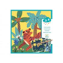 Djeco 3-6 Design KRATZBILDER Große Tiere