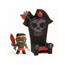Djeco Arty Toys Pirat KYLE mit THRON