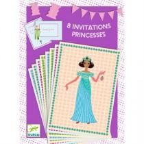 Djeco Einladungskarten-Set Prinzessinnen
