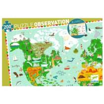 Djeco Entdeckerpuzzle: Rund um die Welt