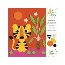 Djeco 3-6 Design Bilder aus Filz Sanfte Natur