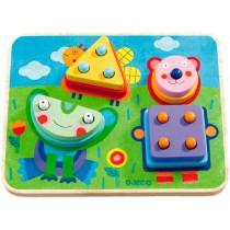 Djeco Erstes Lernen Puzzle Kikou Plok