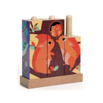 Djeco Holzpuzzle PUZZ-UP FOREST