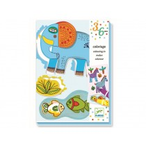 Djeco 3-6 Design: Malset für Kleinkinder - Zoo Zoo