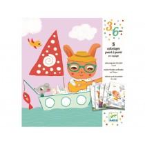 Djeco 3-6 Design Malbuch Verbinde die Punkte Auf Reisen