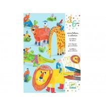 Djeco 3-6 Design: Mini-Totems zum Ausmalen - Alle Freunde