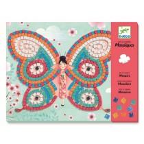 Djeco Mosaik Kunst nach Zahlen Schmetterlinge