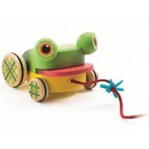 Djeco Nachziehtier Frosch CroaFroggy
