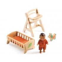 Djeco Puppenhaus Baby Sweetie und Möbel
