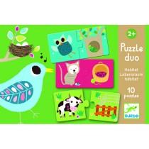 Djeco Duo Puzzle Lebensraum