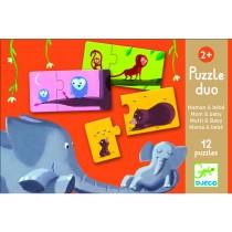 Djeco Duo Puzzle Mutti & Baby