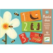 Djeco Duo Puzzle Zahlen