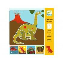 Djeco Schablonen Dinosaurier