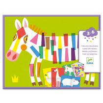 Djeco 3-6 Design Basteln mit Stickern GROßE TIERE