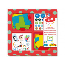 Djeco 3-6 Design Sticker I LOVE CARS