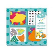 Djeco 3-6 Design Sticker I LOVE FISH