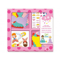 Djeco 3-6 Design Sticker I LOVE PRINCESSES
