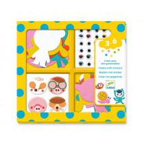 Djeco 3-6 Design Sticker I LOVE ANIMALS