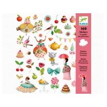 Djeco Sticker Teekränzchen der Prinzessinnen