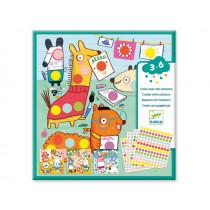 Djeco 3-6 Design Basteln mit Stickern PUNKTE