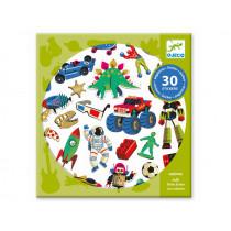 Djeco 30 Sticker RETRO TOYS
