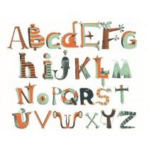 Djeco Wandsticker Alphabet PIRATEN