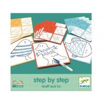 Djeco Step-By-Step Malvorlagen TIERE