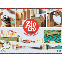 Djeco Domino Rennstrecke Zig & Go 48 Teile