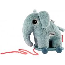 Done by Deer Plüsch Nachzieh-Elefant ELPHEE blau