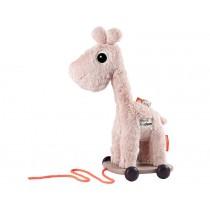 Done by Deer Plüsch Nachzieh-Giraffe RAFFI puderrosa