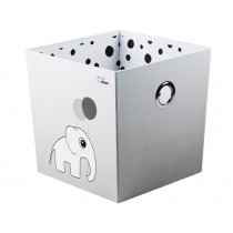Done by Deer Stapelbox Elefant Punkte grau