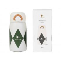 Fabelab Wasserflasche Edelstahl DIAMOND Olivgrün 320ml