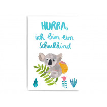 Frau Ottilie Postkarte SCHULKIND Koala