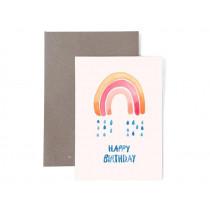 Frau Ottilie Grußkarte zum Geburtstag HAPPY BIRTHDAY Regenbogen