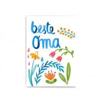 Frau Ottilie Postkarte BESTE OMA
