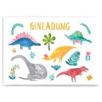 Frau Ottilie Einladungskarte DINO