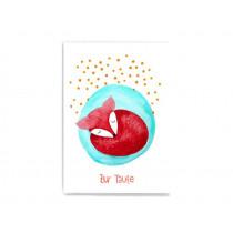 Frau Ottilie Postkarte ZUR TAUFE Fuchs