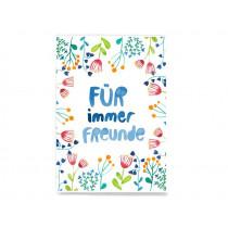 Frau Ottilie Postkarte FÜR IMMER FREUNDE