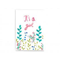 Frau Ottilie Postkarte zur Geburt IT'S A GIRL