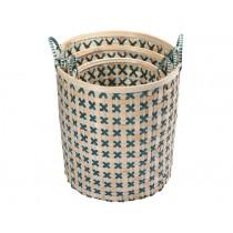 Handed By Bamboolastic Korb graugrün blaugrün