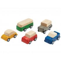 Plantoys 5 Mini Holzautos PLANWORLD