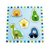 JaBaDaBaDo Knopfpuzzle blau