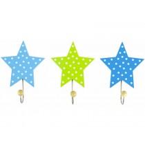 JaBaDaBaDo Garderobenhaken Stern blau